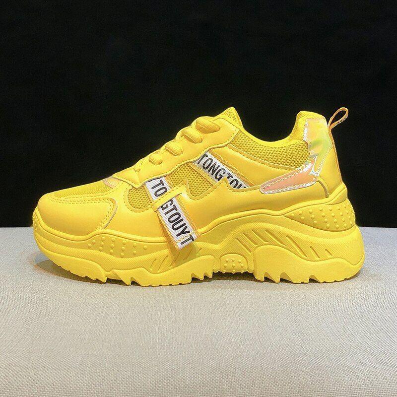 Yellow shoes in 2020   Women platform