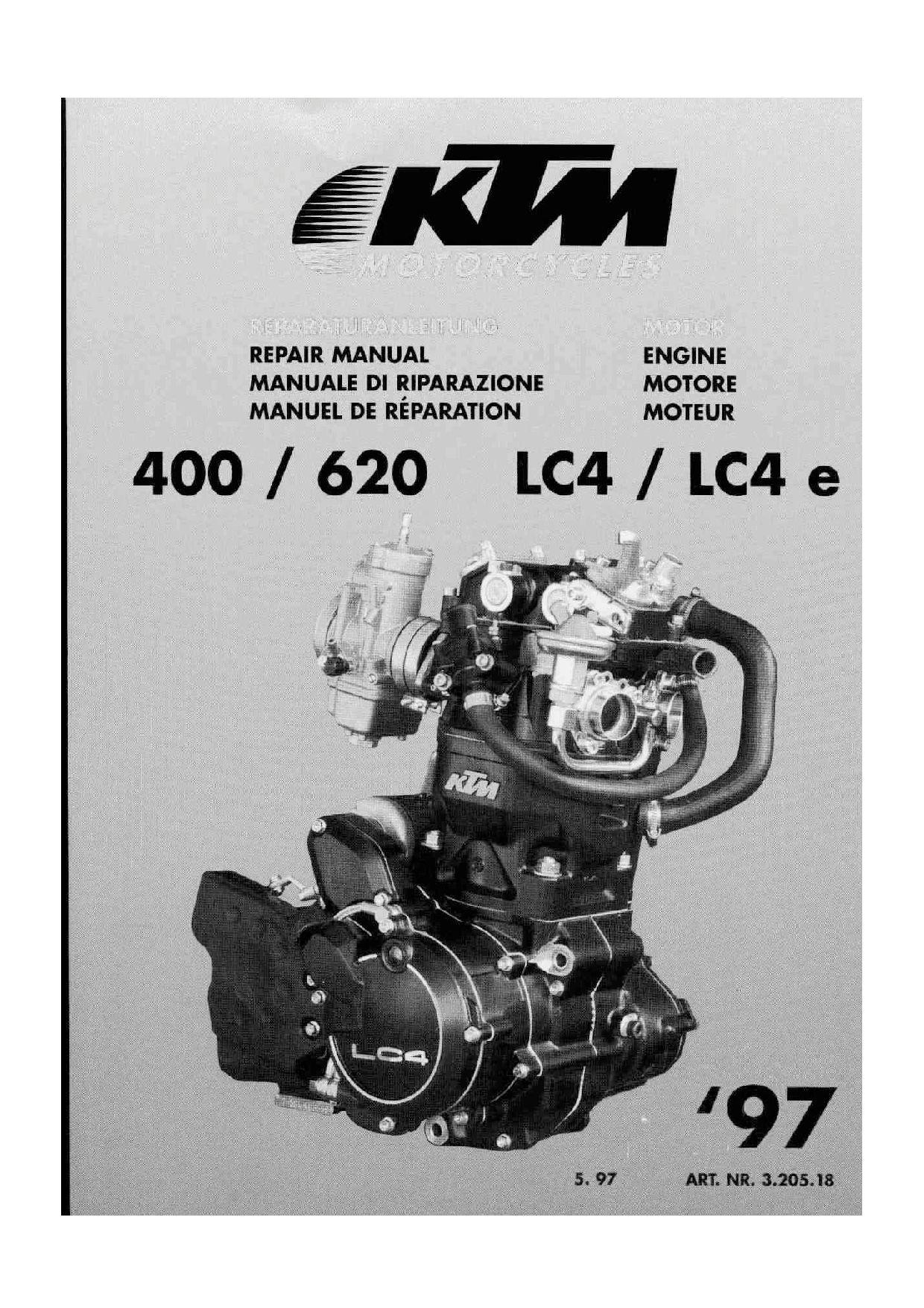 Ktm 400 620 Lc4 Lc4e 1997 Repair Manual Pdf Download Service Manual Repair Manual Pdf Download Repair Manuals Ktm 400 Repair