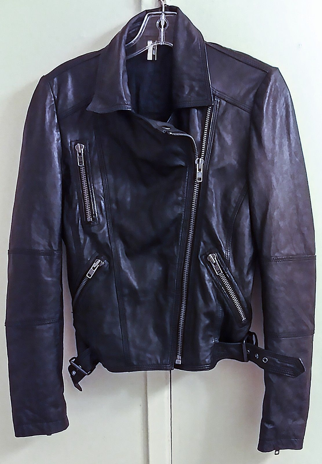 159.99 Black 100 Real Leather Motorcycle