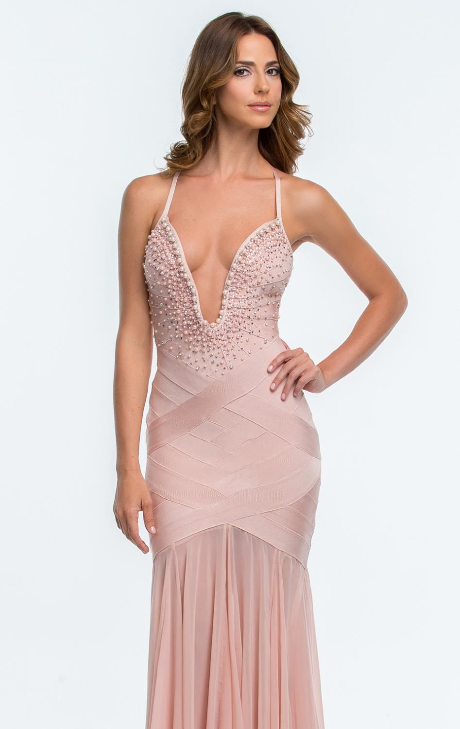 Embellished Fitted Gown by Terani Couture Prom