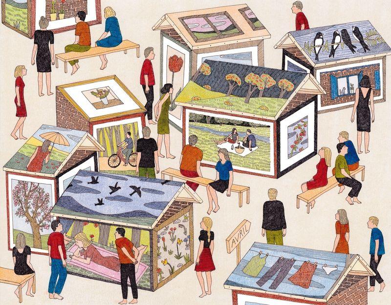 AVRIL - Illustration pour le calendrier 2014 de l'agence Vue sur la Ville