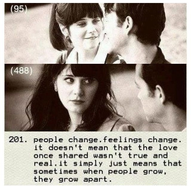 500 Days Of Summer People Change Feelings Change It Doesn T Mean That The Love Once Shared Wasn T True And Real It S Movie Quotes 500 Days Of Summer Words