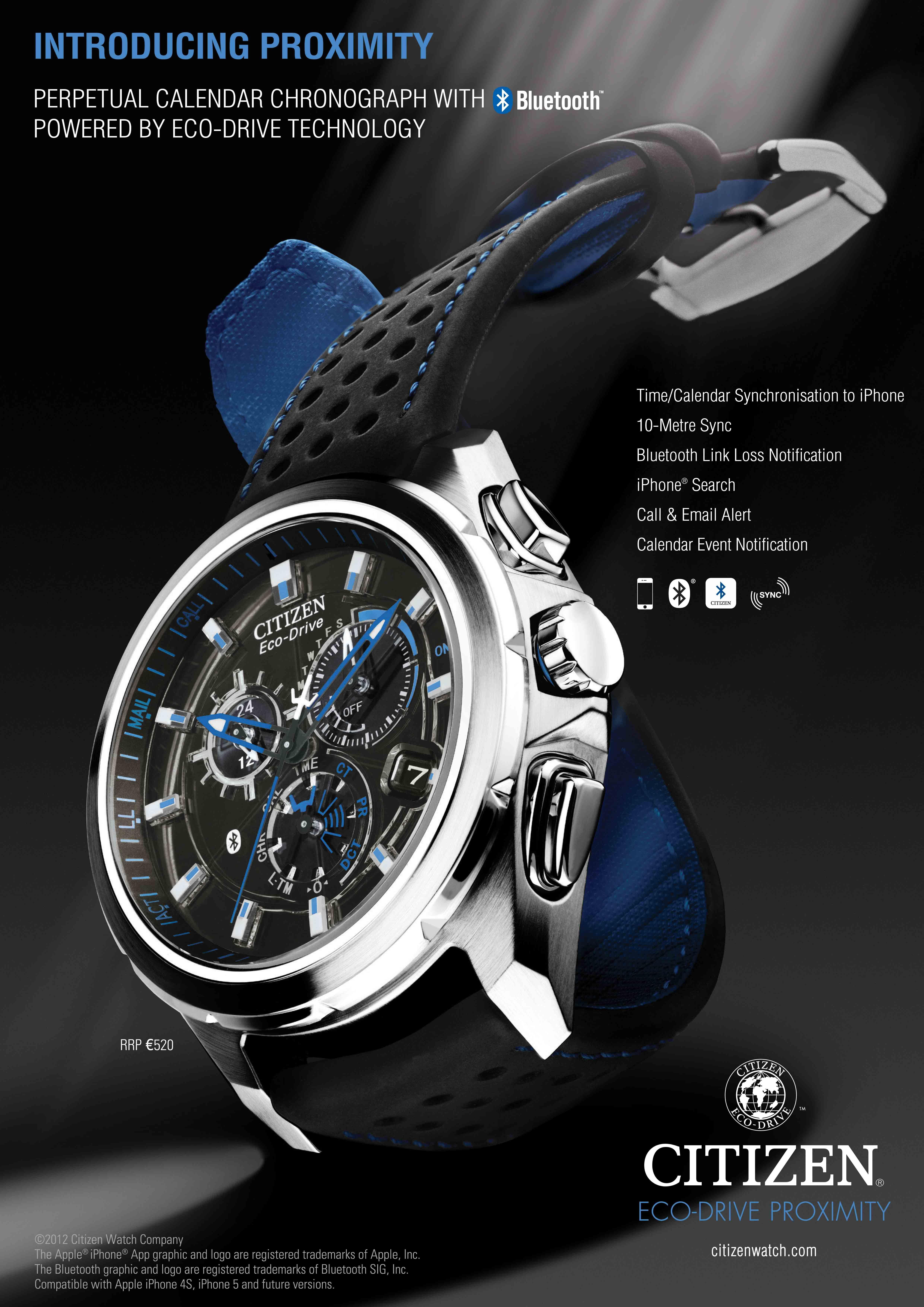The Citizen Eco-Drive Proximity Watch has an accompanying ...