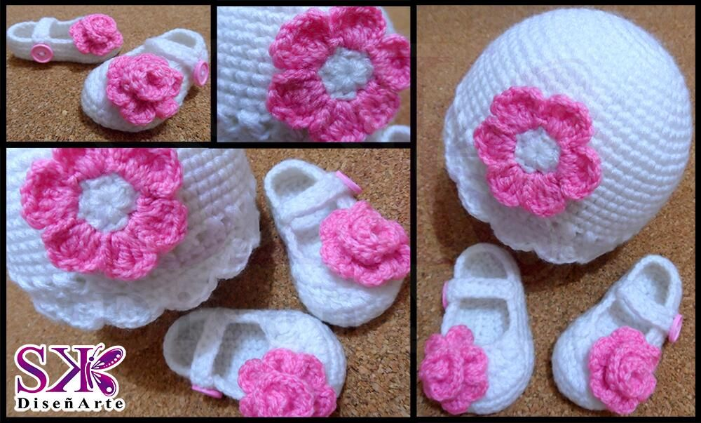 #GorritoConZapatillas para bebé recién nacida. Quieres uno así para tu hija? Haz tu pedido #colores #meses #crochet