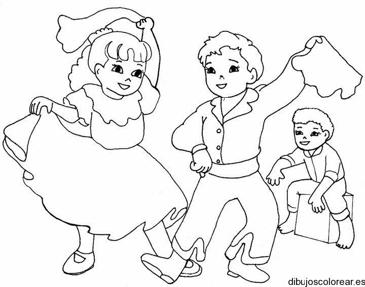 dibujo para colorear de niños bailando | Conozcamos algunos bailes ...