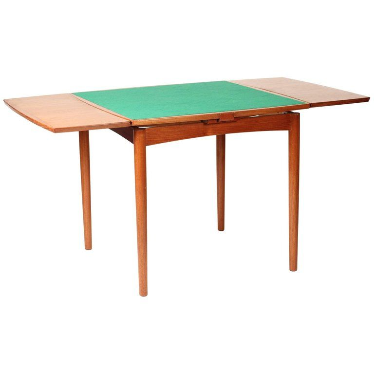 Mid Century Modern Danish Reversible And Extending Card Table