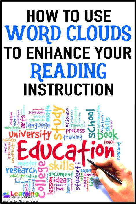 Using Word Clouds to Enhance Your Reading Instruction | Word clouds ...