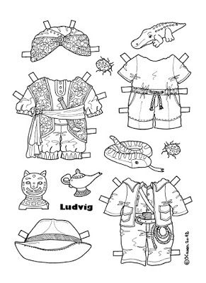 Karen`s Paper Dolls: Ludvig 1-2 Paper Doll to Print and Colour. Ludvig 1-2…