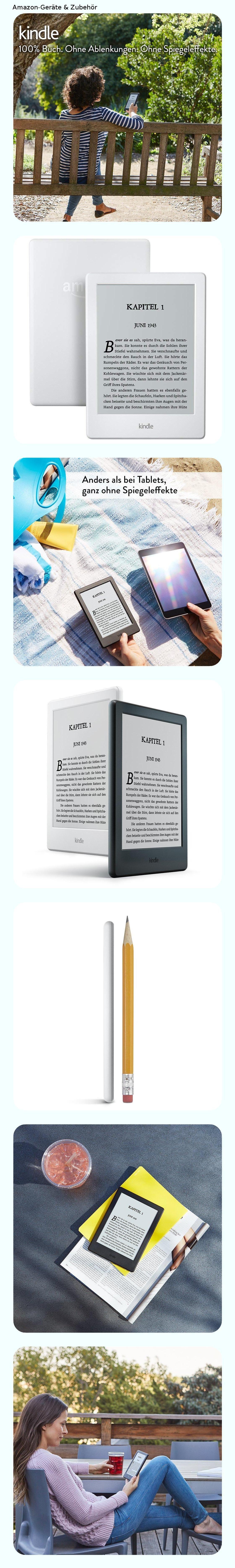 Kindle Ereader Zertifiziert Und Generaluberholt 15 2 Cm 6 Zoll Touchscreen Ohne Spiegeleffekte Wlan Weiss Mit Spezia In 2019 Kindle Spiegel Und Zoll