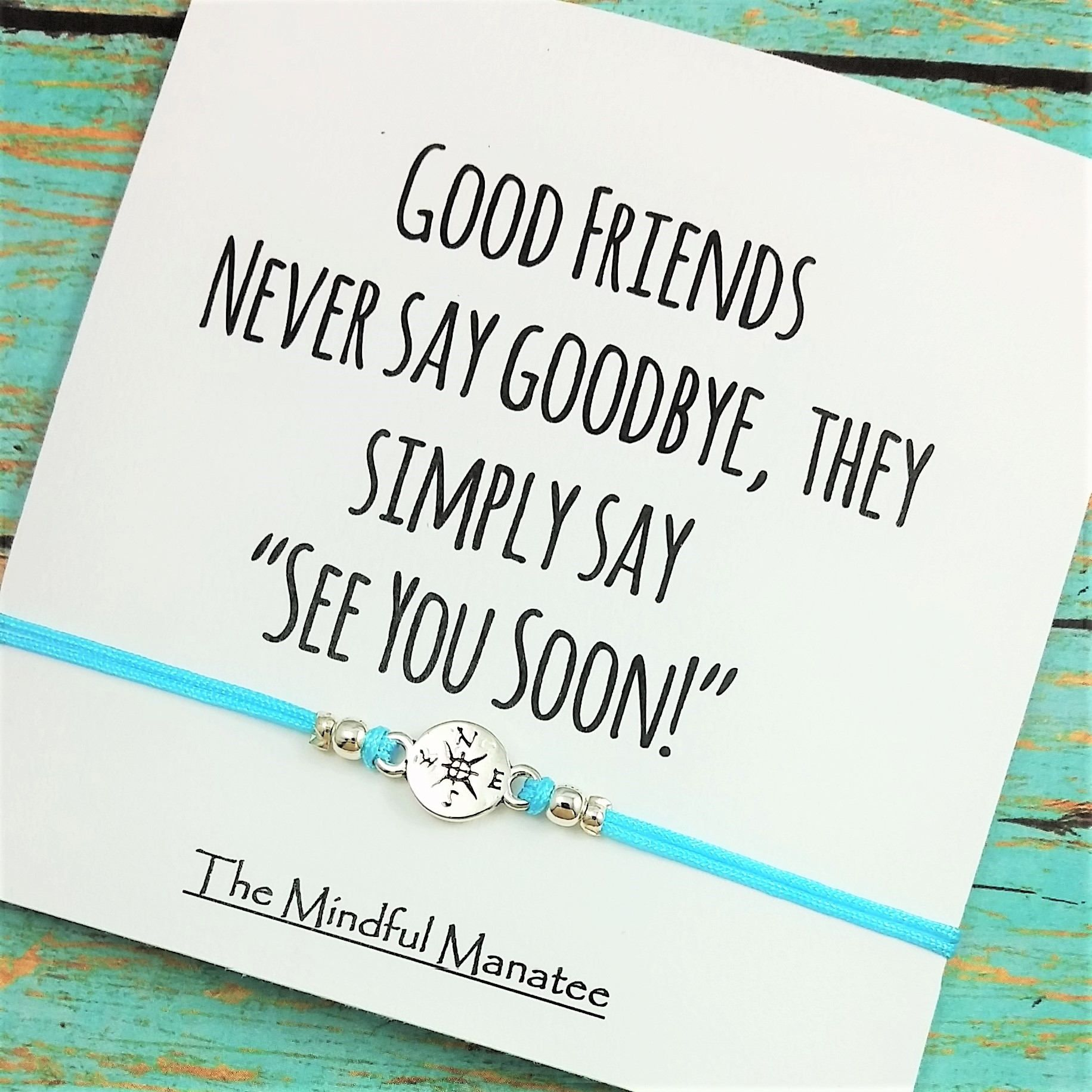 Going Away Friendship Gift By The Mindful Manatee The Mindful