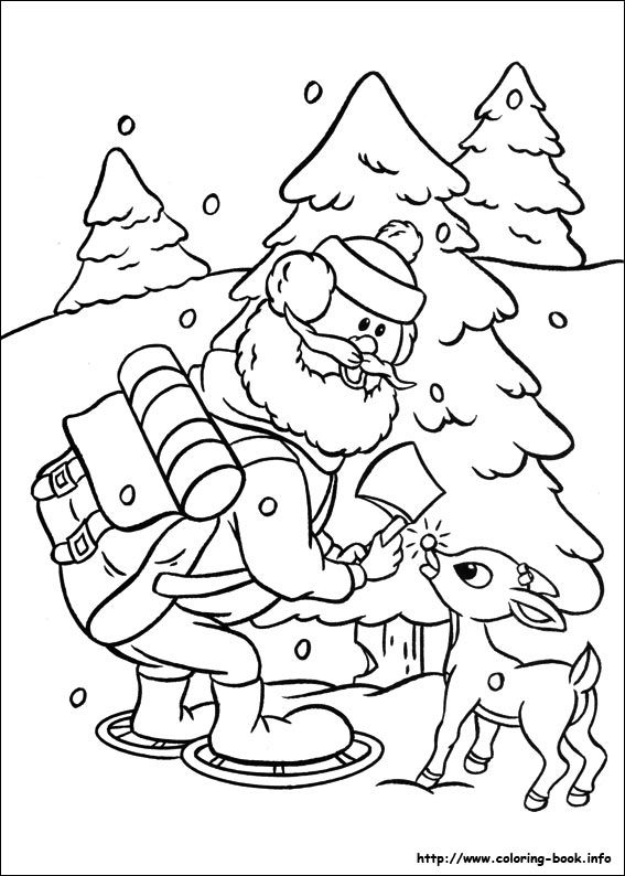 rudolph the red nosed reindeer coloring page # 57