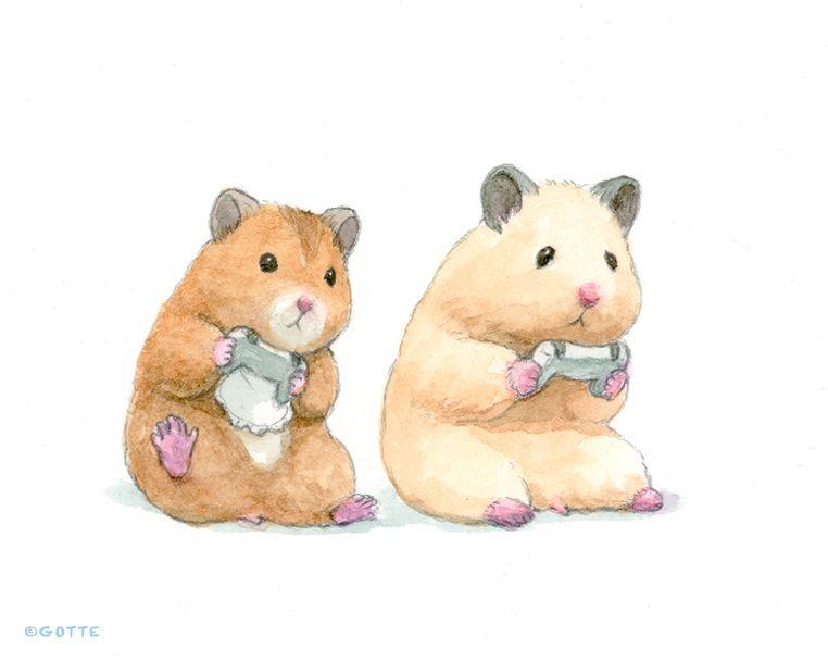 Gotte Hamsterpainter On Twitter Cute Animal Drawings Hamster Cartoon Cute Hamsters