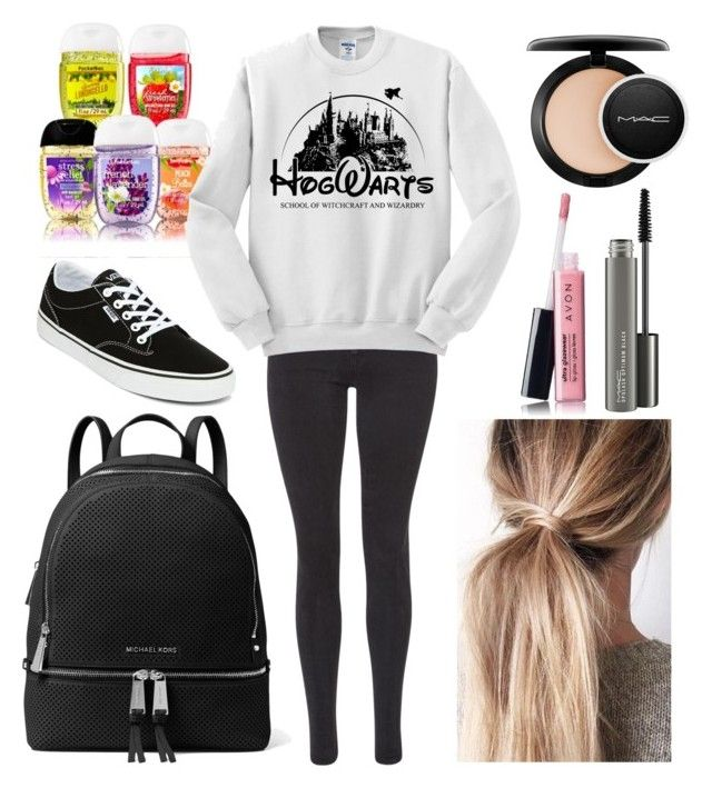 """""""For liztheunicorn101"""" by harrypotter-gurl ❤ liked on Polyvore featuring Maison Scotch, Vans, MICHAEL Michael Kors, Avon and MAC Cosmetics"""