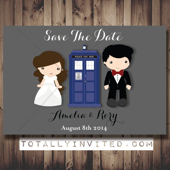 Doctor who tardis bride groom save the date printable diy doctor who tardis bride groom save the date printable diy customized unique digital invitationswedding stopboris Image collections