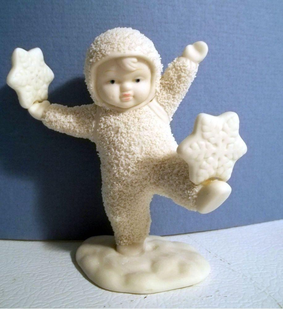 Snowing christmas decoration let it snow - Dept 56 Snow Babies Figurine It S Snowing Christmas