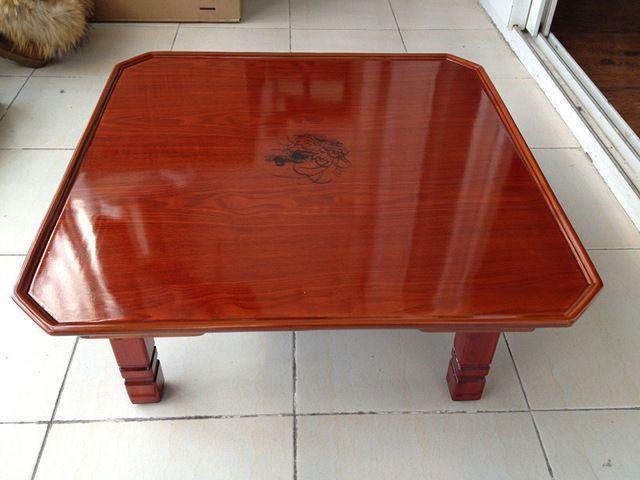 Asian Wood Furniture Korean Tea Table Folding Legs Square 60cm