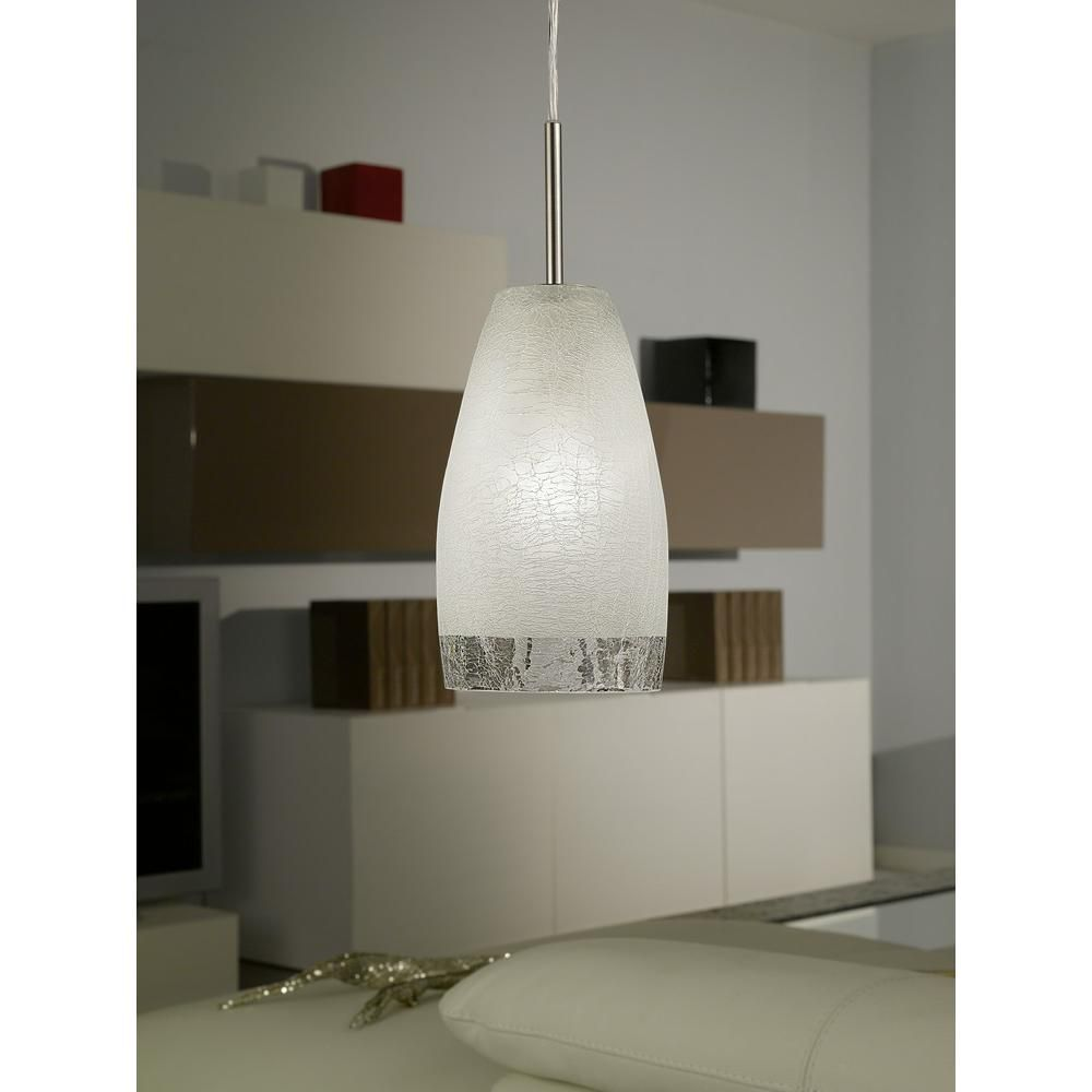 Eglo Crash 1 Light Matte Nickel Hanging Ceiling Pendant 20599a The Home Depot Ceiling Pendant Eglo Mirror Interior