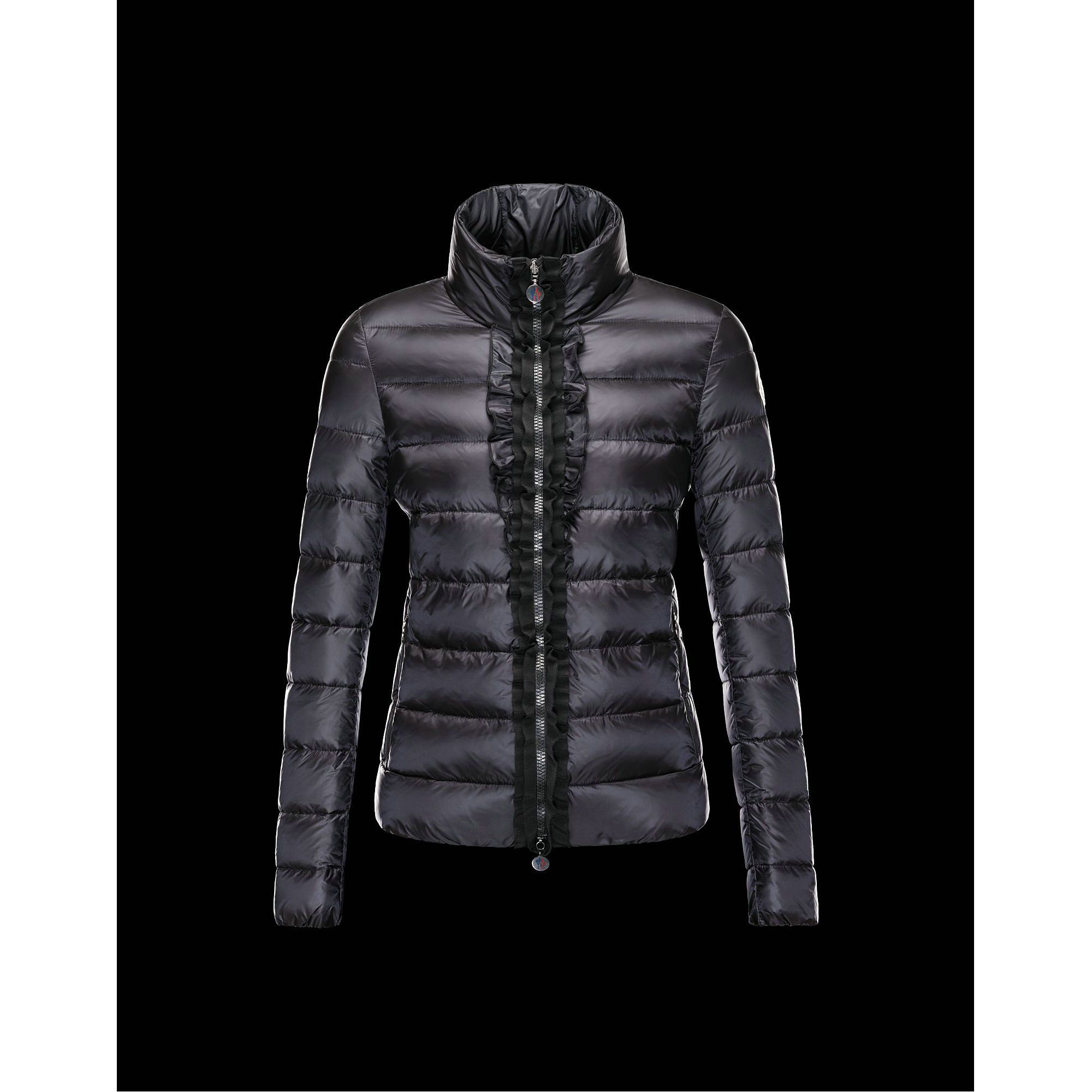 2015 New! Moncler OXALIS Down Jackets Womens Collar Black