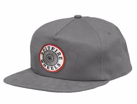 241dea4202ca1 SPITFIRE - OG CLASSIC PATCH UNSTRUCTURED HAT - GREY