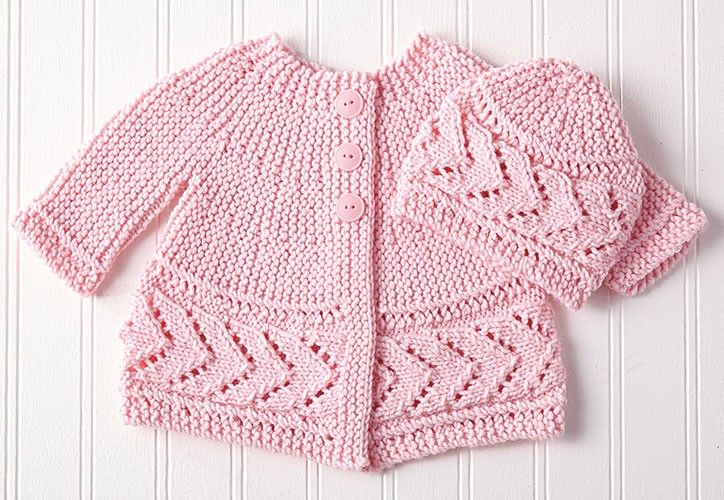 Kit to knit, this set includes Mary Maxim Baby Kashmere yarn. Shown ...