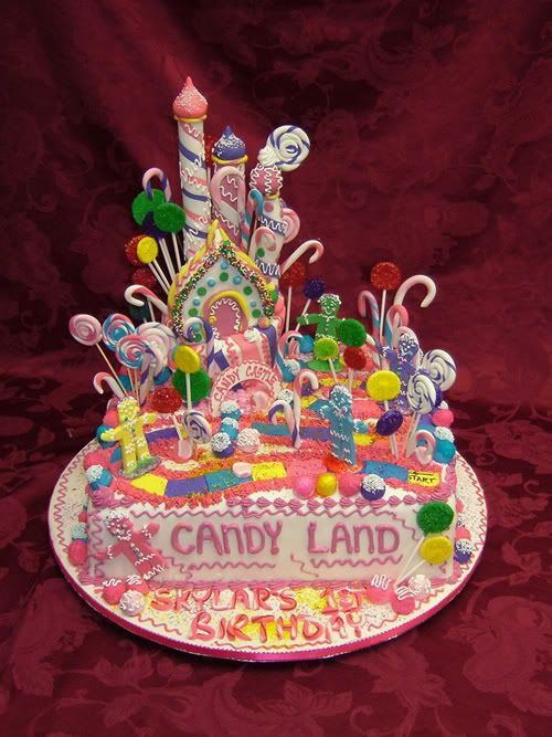 Cool Candyland Cake Childrens Cakes More At Recipins Com With Images Birthday Cards Printable Opercafe Filternl