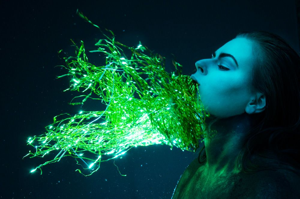 Fantasy, Fairytale, Sureal, Art   Katelizabeth Photography  www.katelizabeth.co.uk #photography #corset #alien #cyber #cyborg #bald #makeup #smoke #scifi #fantasy #futuristic #space #water #wet #look #mermaid #ocean #sea #swamp #underwater #glitter #wig