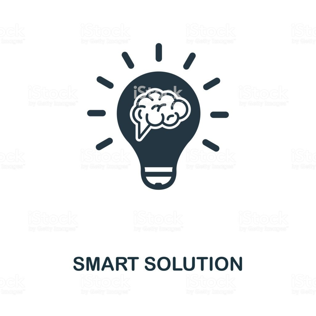 Smart Solution creative icon. Simple element illustration