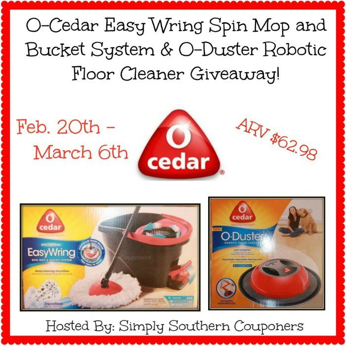 enter to win an o-cedar easy wring spin mop and bucket system & o