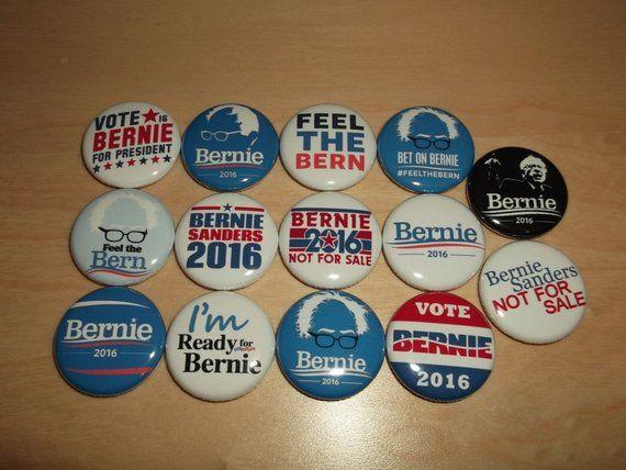 I Love Bernie Sanders 2016 Democratic Campaign Button Set