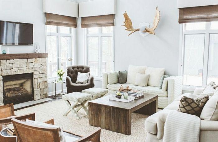 ▷ 1001 + conseils et idées pour aménager un salon rustique ...