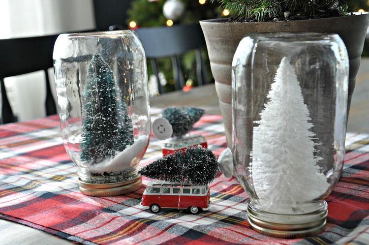 Bottle Brush Tree Place Card Dare To Diy Bottle Brush Trees Holiday Mason Jar Christmas Centerpieces
