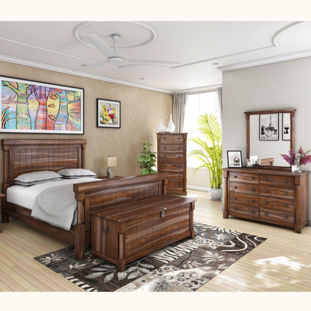 Pioneer Transitional 7 Piece Bedroom Set Bedroom