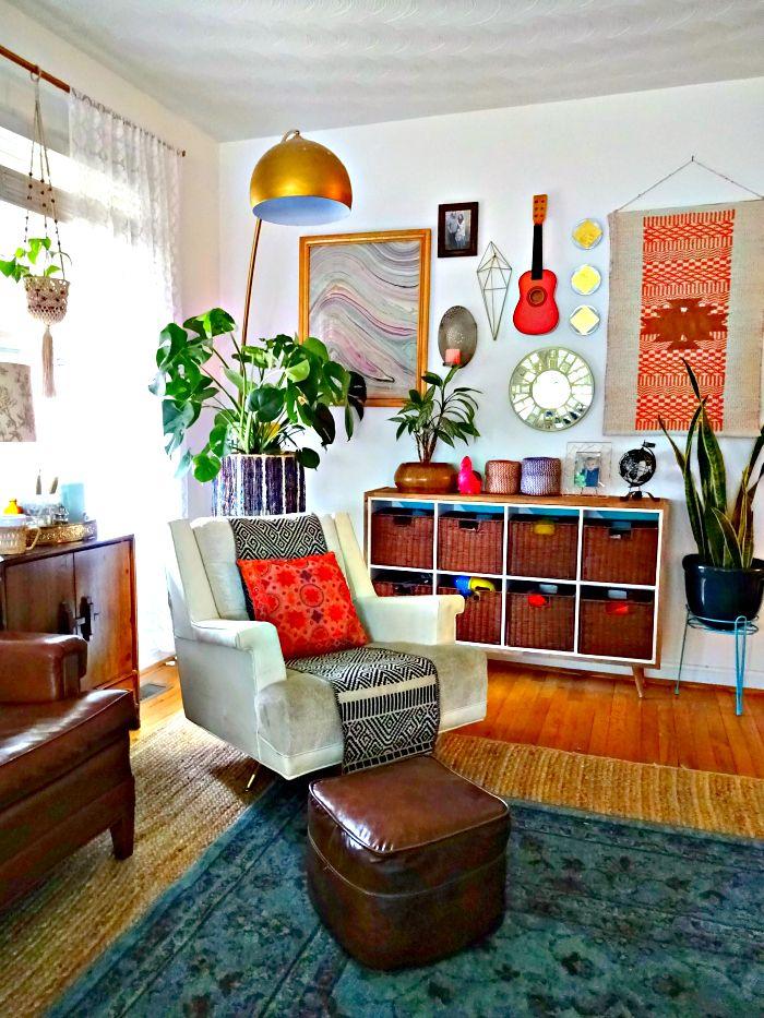 Eclectic Living Room Design Ideas: Vintage Bohemian Spring Home Tour