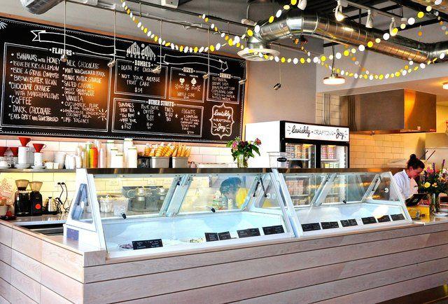 Modern Clean Ice Cream Store Pinterest Modern