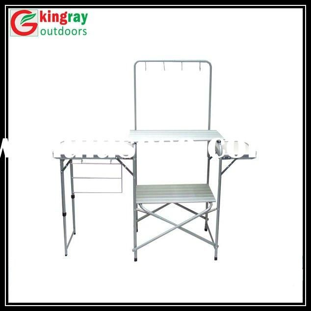 Portable Camping Kitchen Table Foldable Camp Cooking Table