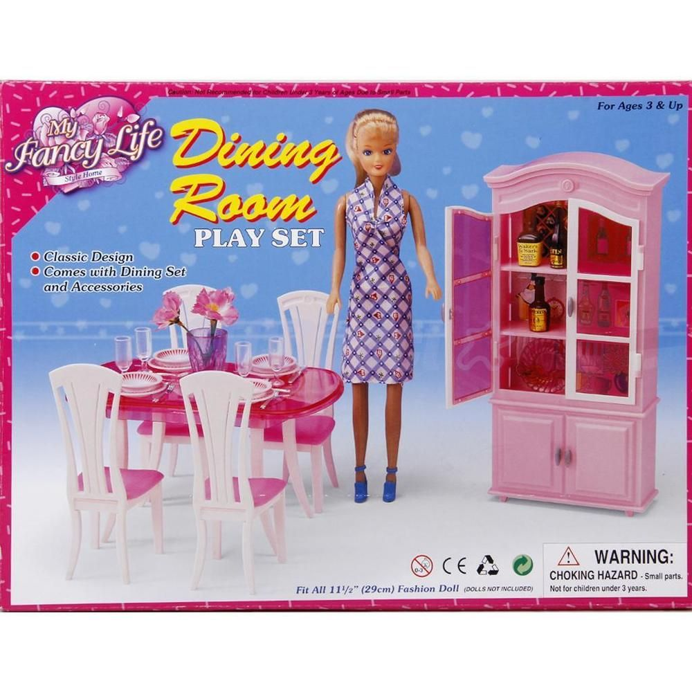 My Fancy Life Gloria Dining Room Play Set - Table with 4 ...