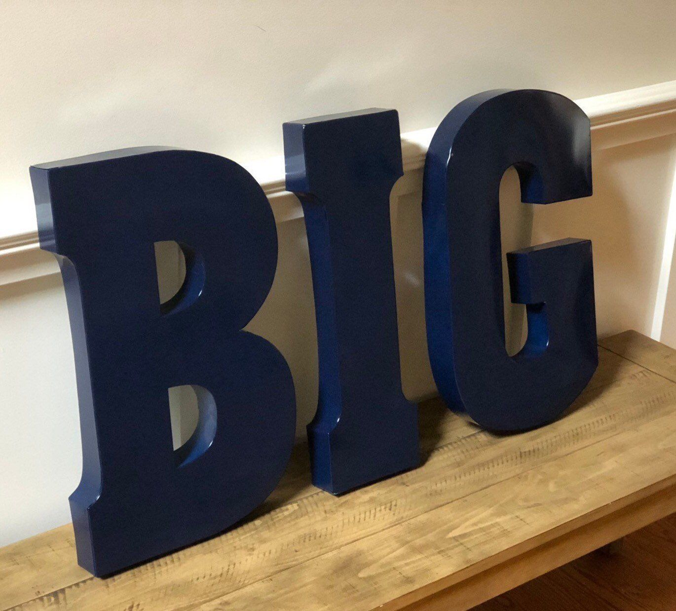 Sale Extra Large Metal Letters Pick Color Navy Blue Home Love