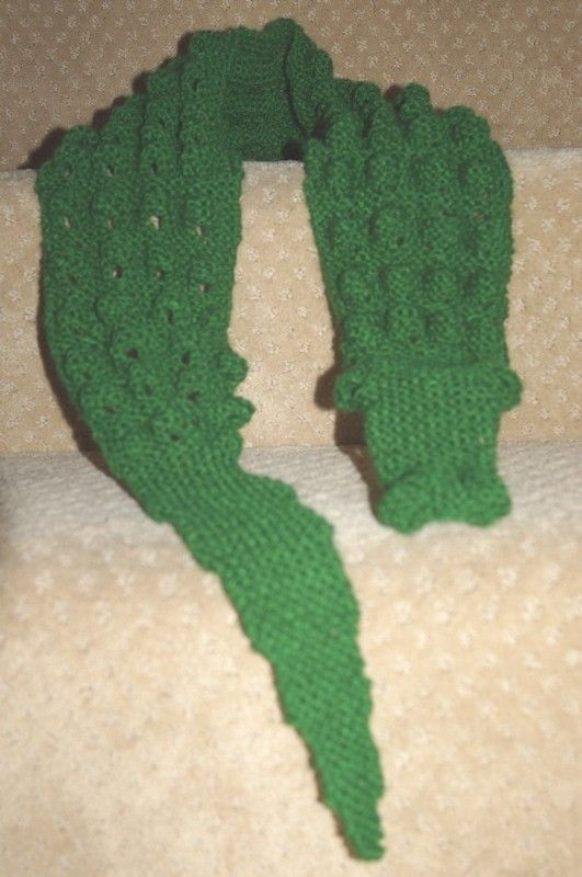 Alligator Scarf Or Is It A Crocodile By Astridandthebird On Etsy