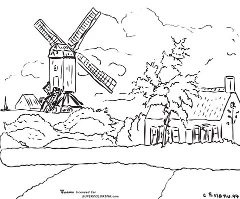 Windmill at Knock Belgium By Camille