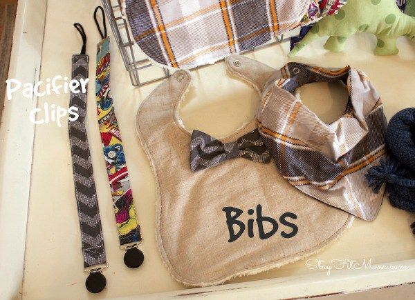 These bibs are adorable. I love all the patterns on these homemade baby items.