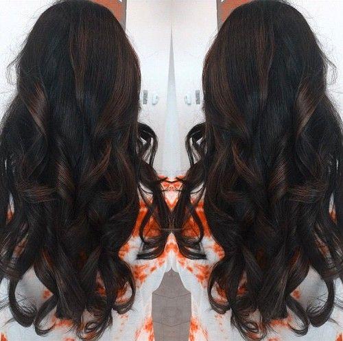Long Dark Brown Hairstyle Hair Styles Chocolate Brown Hair Brunette Hair Color