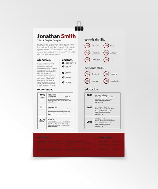 New And Free Creative Resume Templates  Free Creative Resume