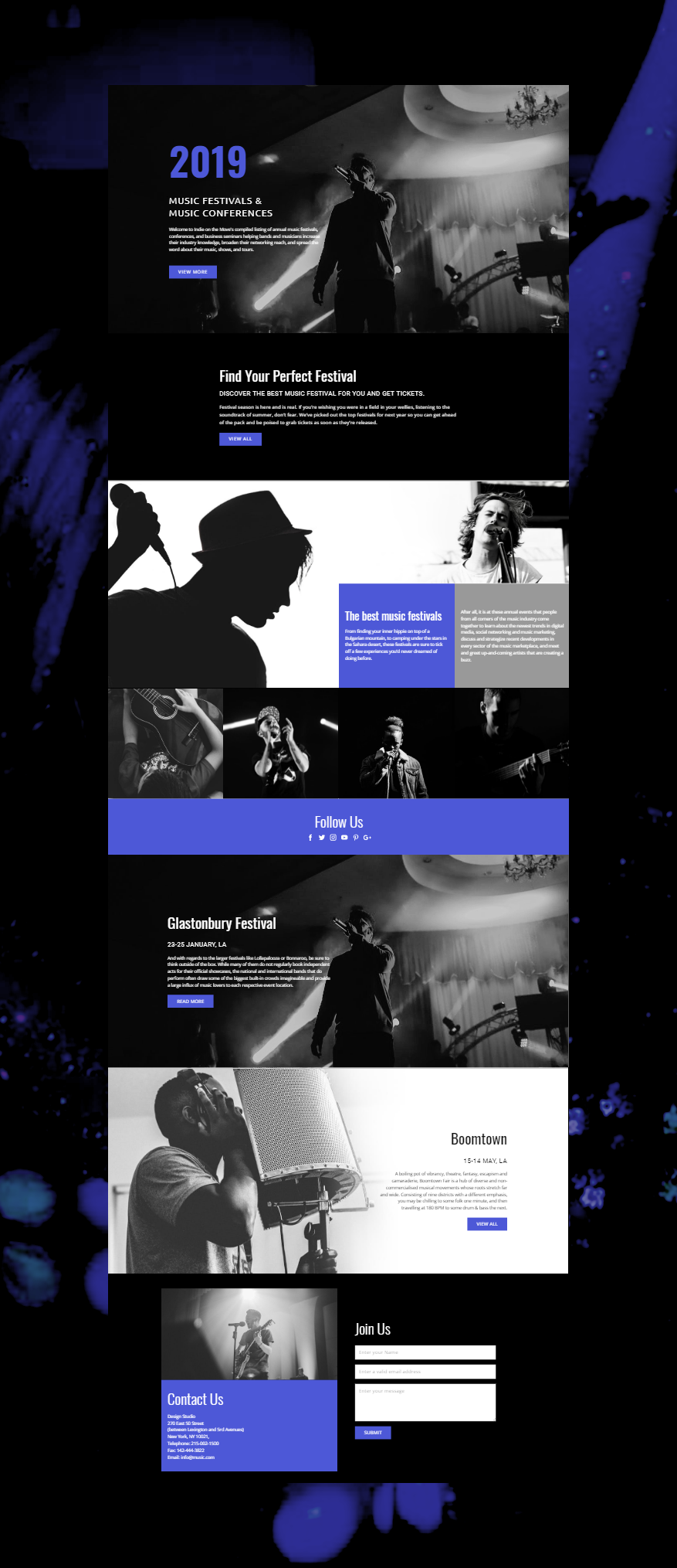 Music Festivals HTML Template