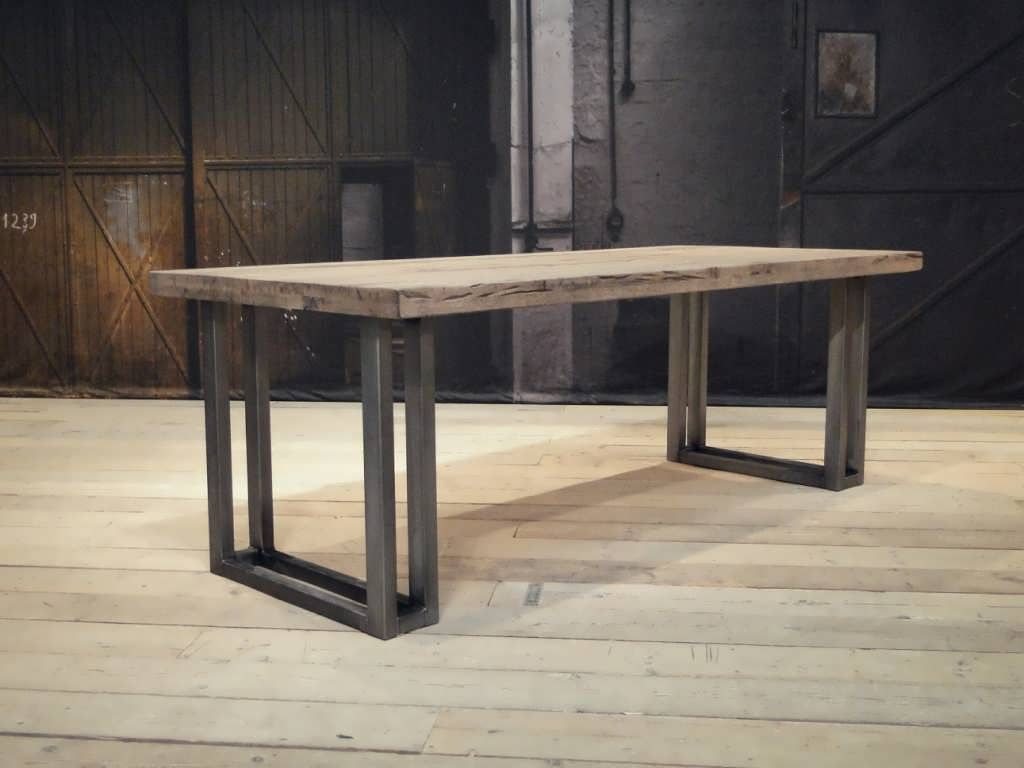 Robuuste Eiken Tafel : Robuuste industriële eiken tafels tafels