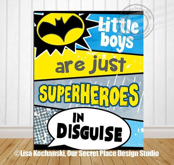 PRINTABLE Superhero Wall Art Superhero Room Decor Superhero Sign ...