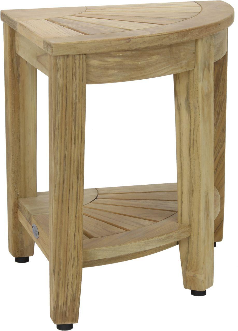 Aqua teak 155 kai corner natural teak shower bench