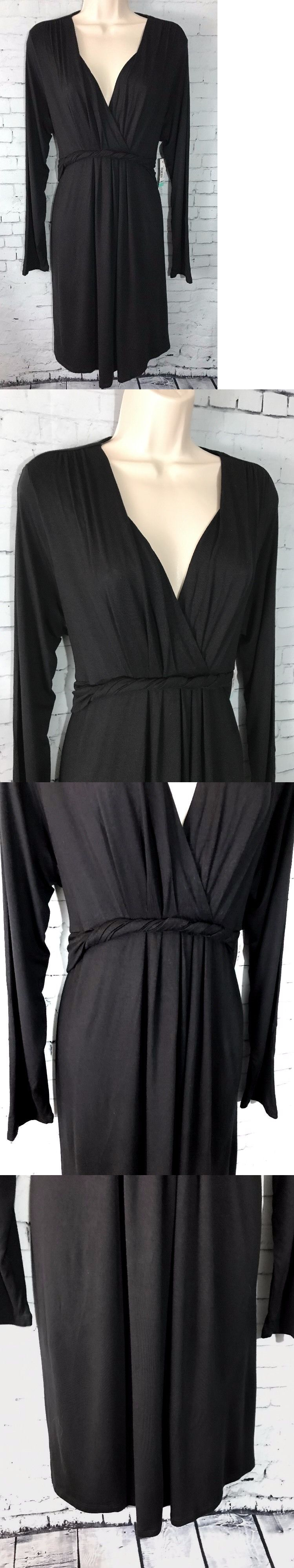 Dresses 11534 duo maternity dress black twist front tie back v dresses 11534 duo maternity dress black twist front tie back v neck long sleeve ombrellifo Images