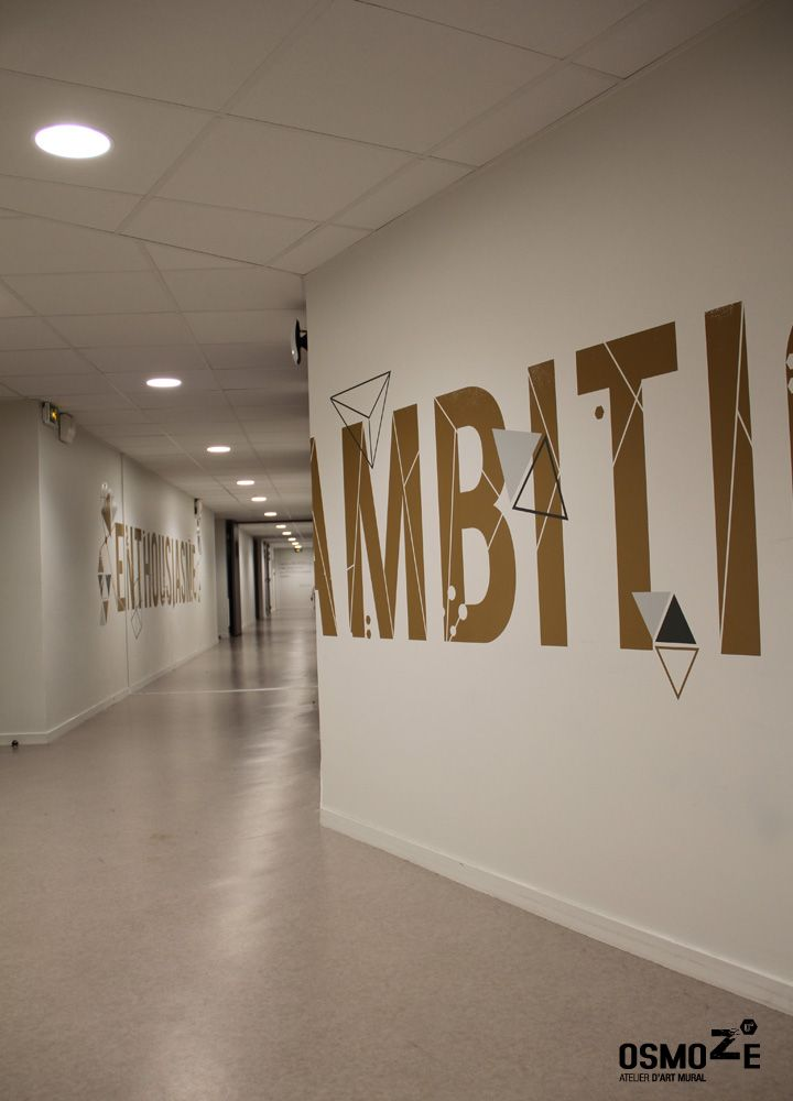 Décoration murale > Signalétique > Ecole Universite ISCOM > Couloir ...