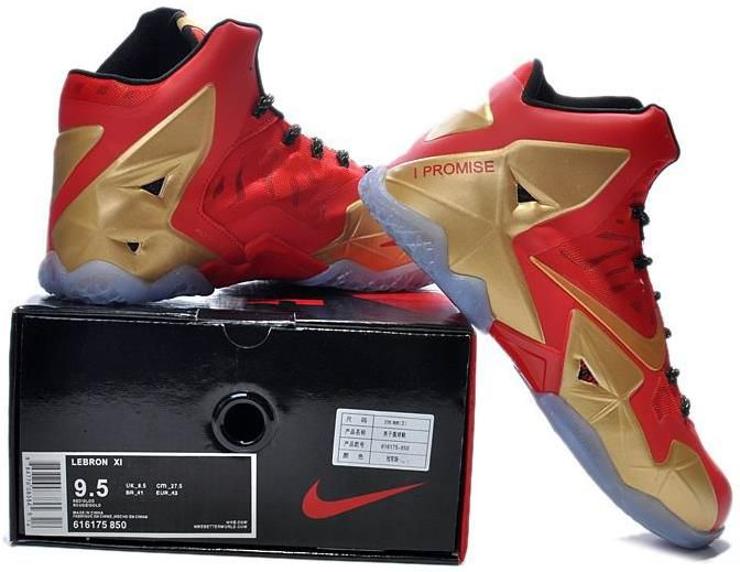 f53eb0d845b LeBron 11 Red Golden Champion Shoes3