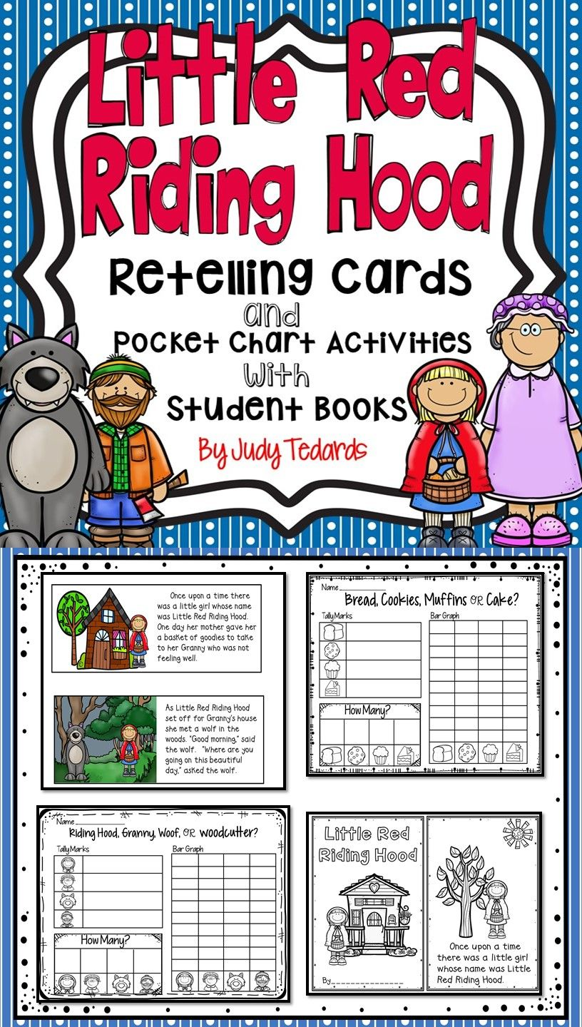 Little Red Riding Hood Retelling Cards And Pocket Chart